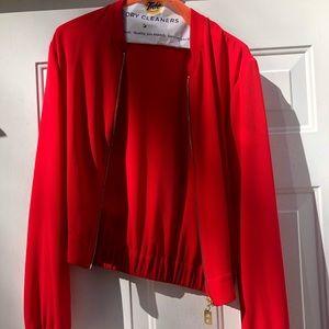 Michael Kors red jacket